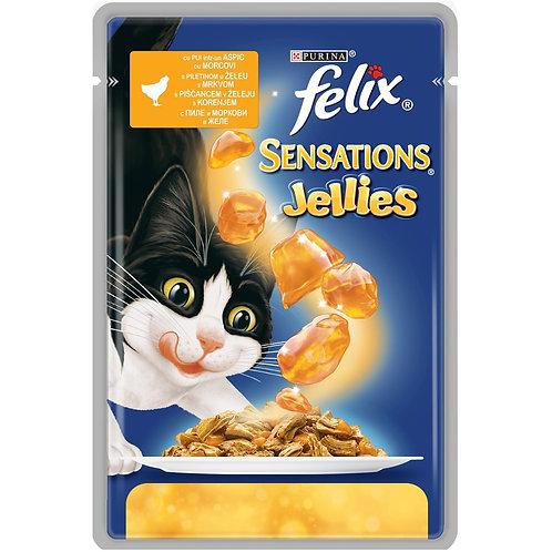 Felix - Hrana umeda pentru pisici cu pui - 100g
