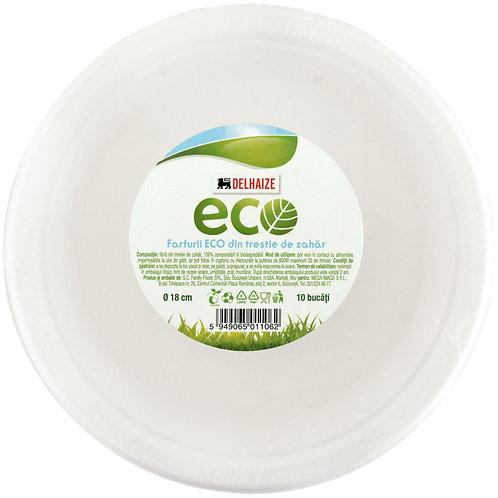 Delhaize  Eco Farfurii 18cm - 10buc
