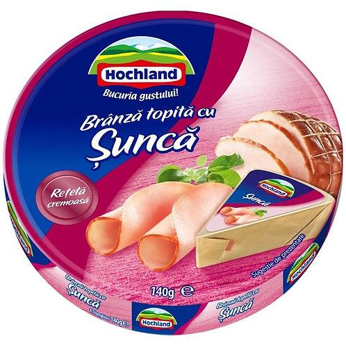 Branza topita triunghiuri cu sunca - Hochland - 140g
