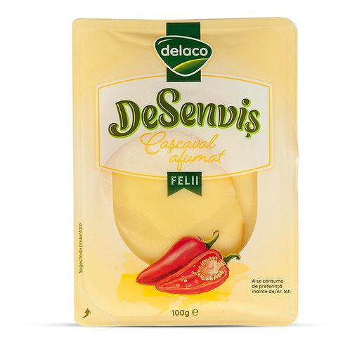 DeSenvis Cascaval afumat felii - Delaco  - 100g