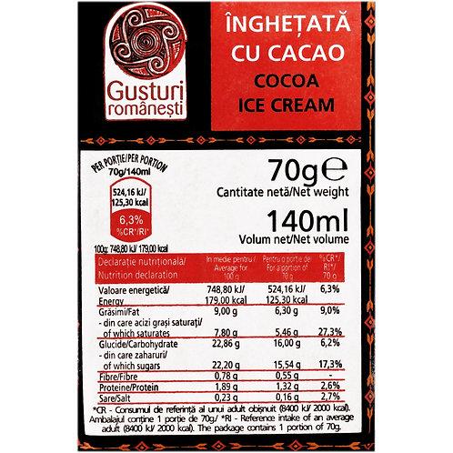 Gusturi Romanesti Inghetata Aroma de Cacao - 140ml
