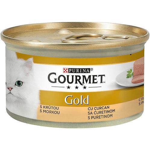 Gourmet Gold- Hrana pentru pisici cu curcan -85g