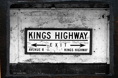 Wooden Plaque - Kings Hwy