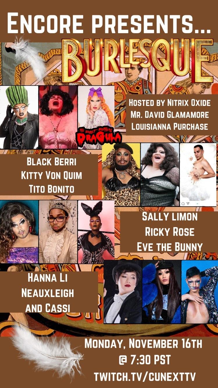11/16 - Encore Presents Burlesque