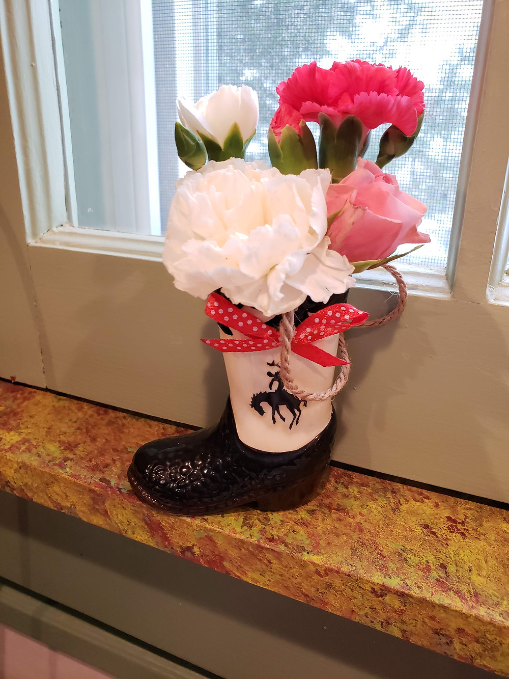 Boots for flowers!