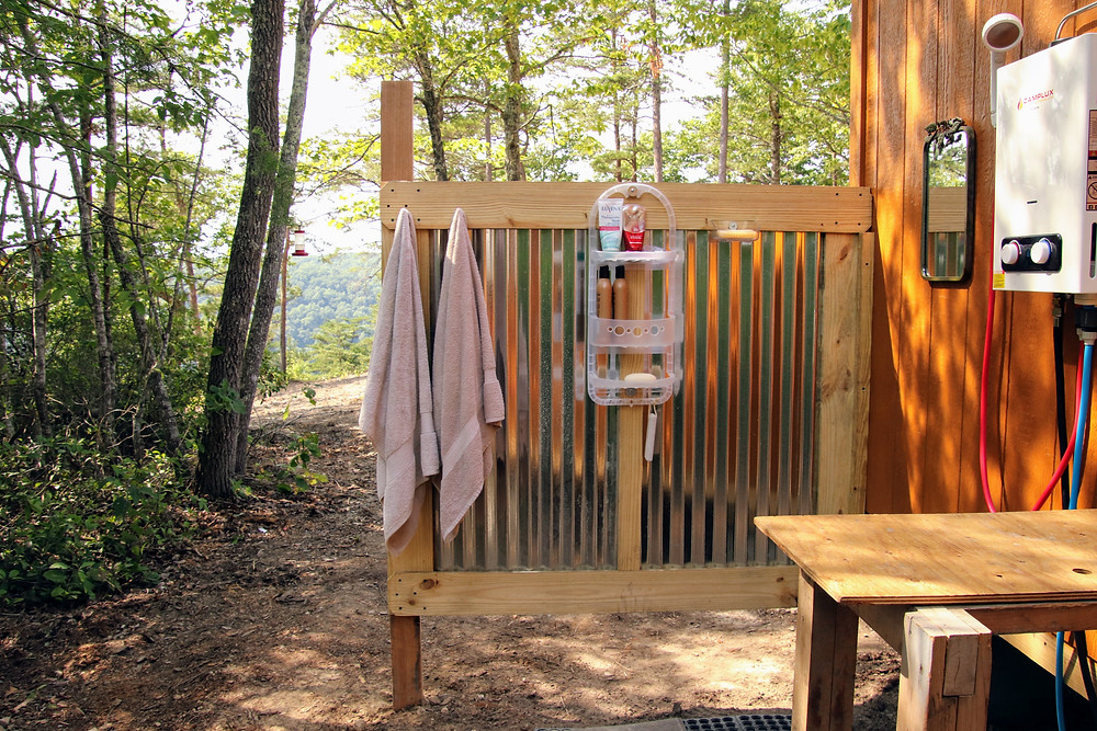 The Completed Outdoor Shower