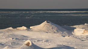 Lake Ice, Lake Ontario Orleans County February 2021