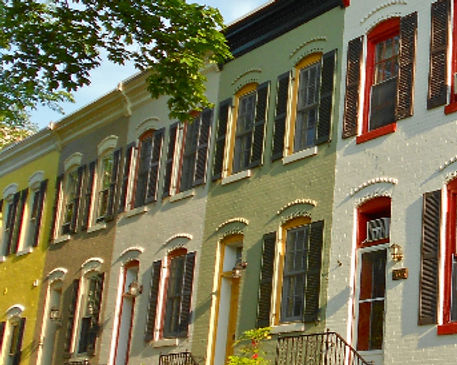 Foggy Bottom, Historic DC, Rowhouses, Rowhomes, Townhouses, DC, Washington DC, Historic Homes,