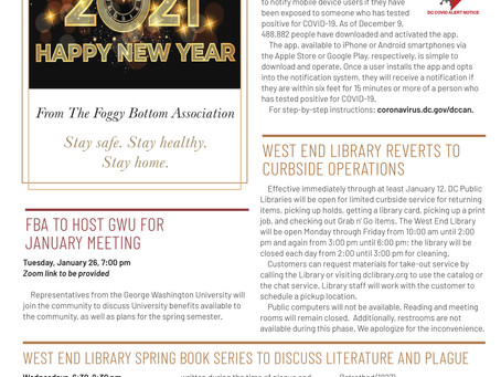 Foggy Bottom News PDF - January 1, 2021 Issue
