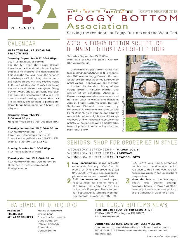 Foggy Bottom News PDF - September 6 Issue | Foggy Bottom