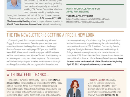 Foggy Bottom News PDF - April 16 Issue