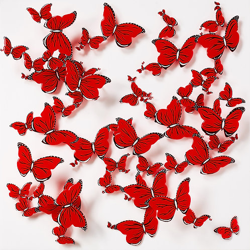 Papillons rouges