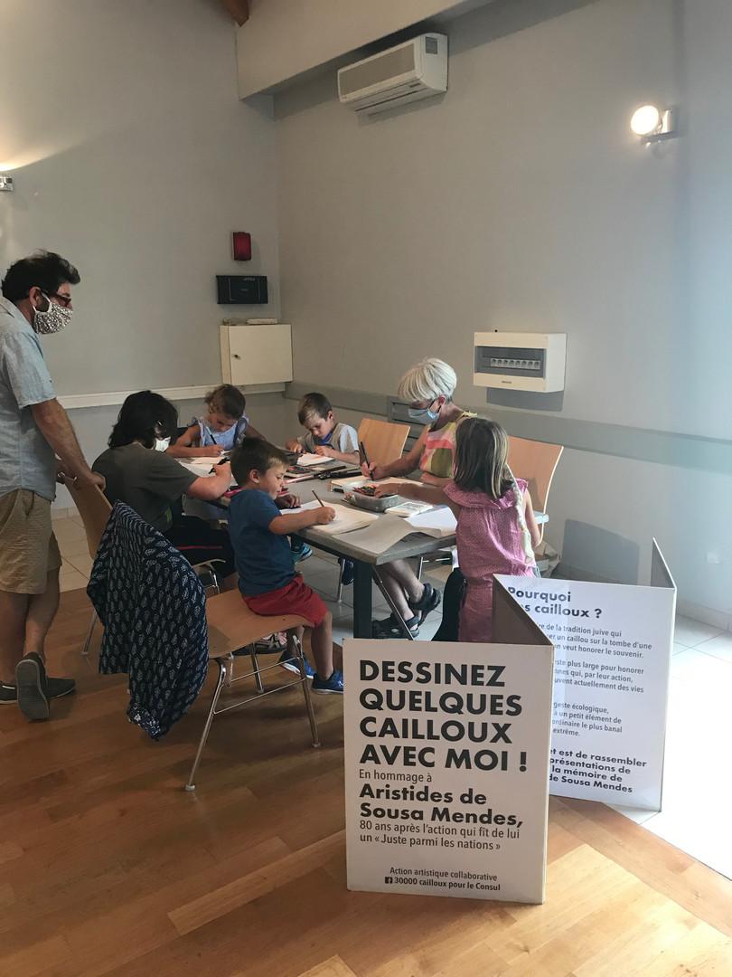 """JEP 2020 Atelier 30 000 cailloux pour le Consul avec LN Le Cheviller Expo """"7 d'ans d'arts"""""""