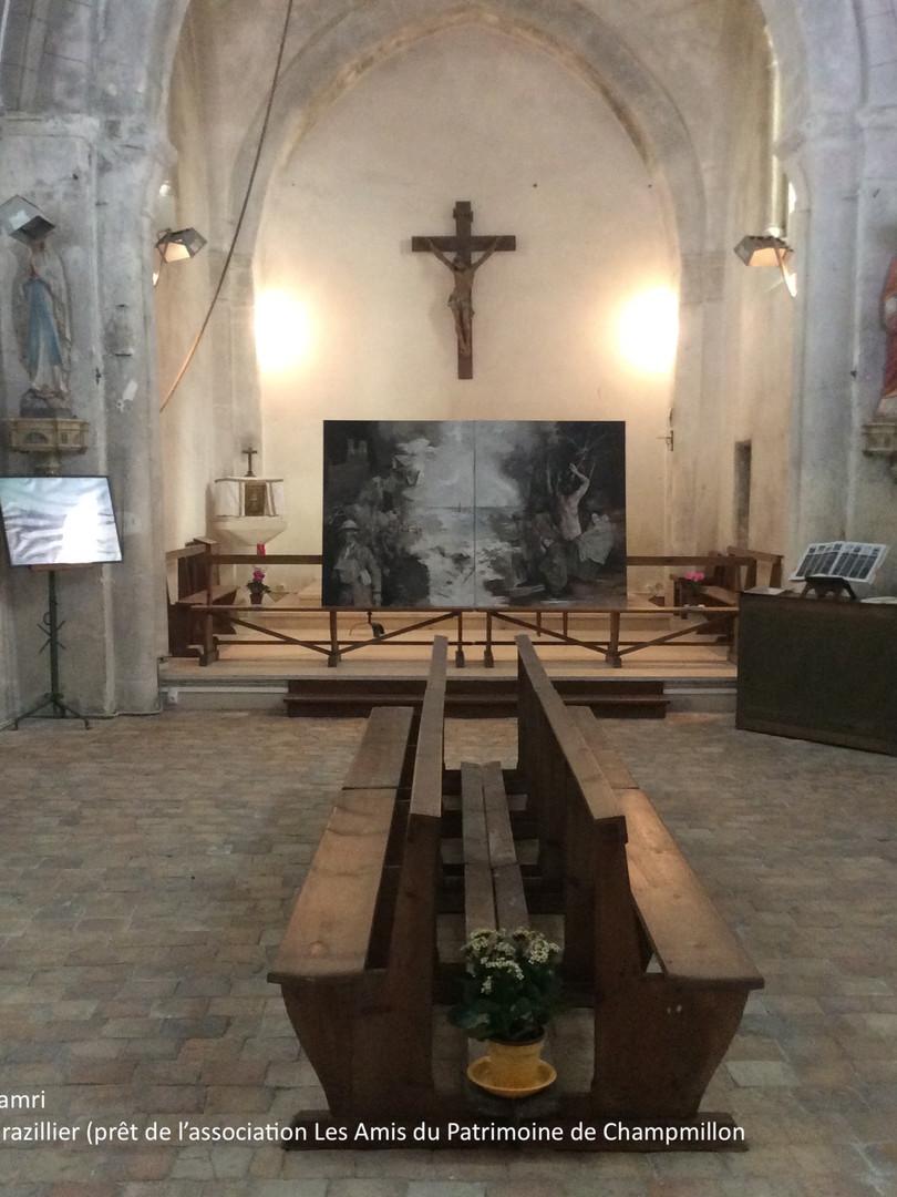 """JEP 2020 Église de Touzac Expo """"7 d'ans d'arts"""""""