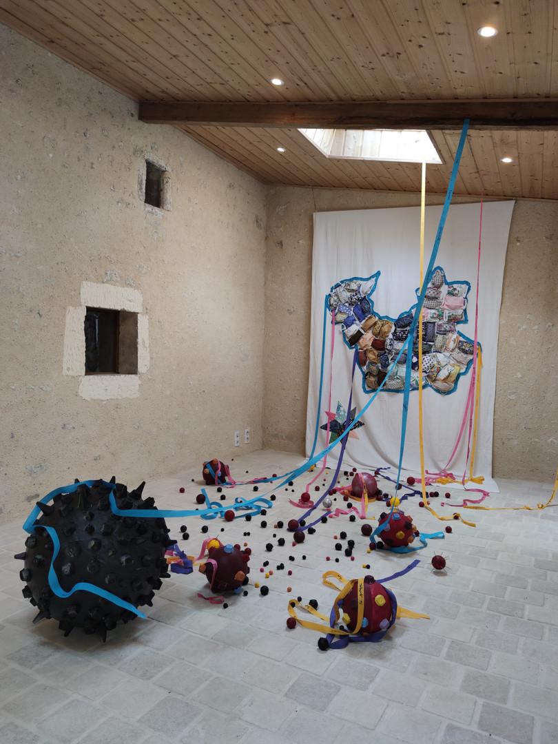"""JEP 2020 """"Sous les masques, l'amitié"""", œuvre collaborative DIAPAR avec Nathalie Boncoeur"""