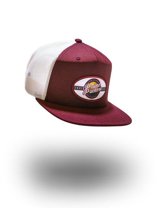 Prune Packers White/Maroon Adjustable Hat