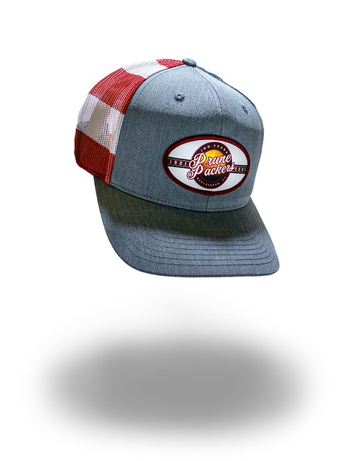 Prune Packers Red/White/Blue Adjustable Hat
