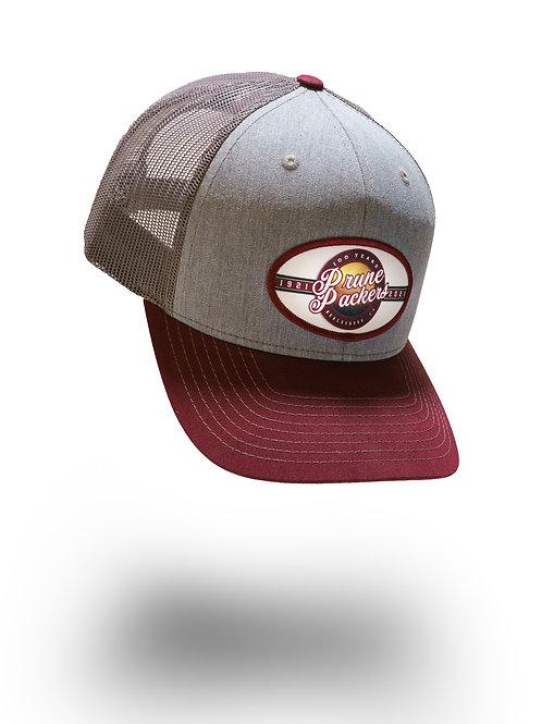 Prune Packers Grey/Maroon Adjustable Hat
