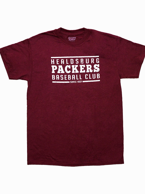 Men's Maroon Cotton Prune Packers T-Shirt