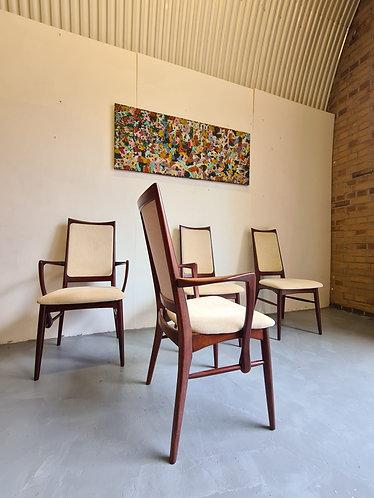 4 x Niels Koefoed Dining Chairs
