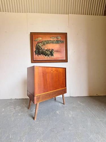 Mid Century Record Cabinet