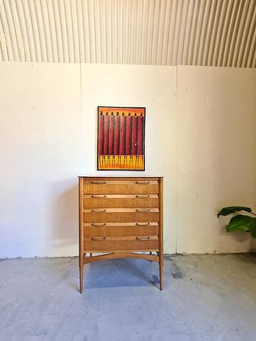 Mid Century Teak Chest Of Drawers