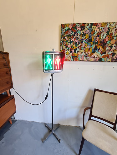 Vintage French Industrial Walk Stop Light