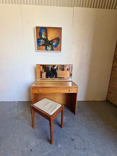 Mid Century Dressing Table and Stool