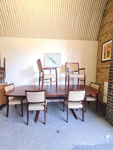 Danish Rosewood Dining Table & 6 x Dining Chairs
