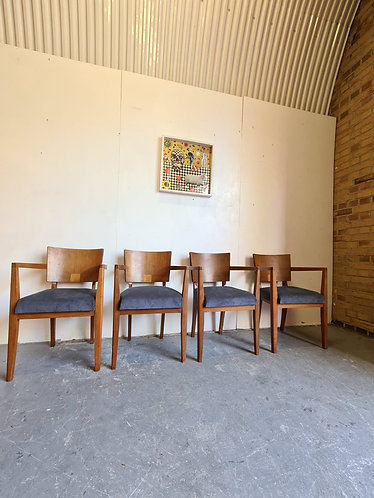 4 X Art Deco Dining Chairs