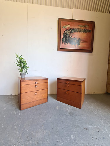 2 x Stag Bedside Tables