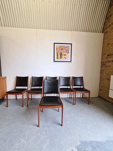 6 x Uldum Moblefabrik Dining Chairs