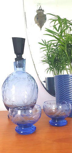 Blue Art Deco Liqueur Set (online only)