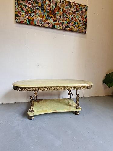 Vintage Onyx Marble Table