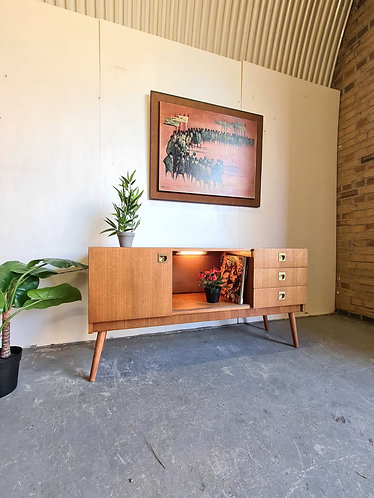 Mid Century Illuminated Sideboard