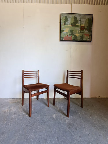 2 x Mid Century Dining Chairs