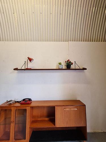 Retro Teak Wall Shelf