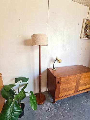 Teak Floor Standing Lamp
