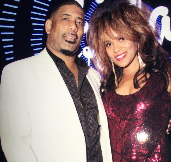 SINGERS LAMARR LUBIN AND CHANTEL DENIESE PERFORMS AT THE MICROSOFT THEATRE