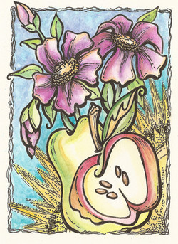 fuhia floral with cut apple pear.jpg