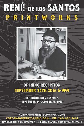 Opening reception for Rene de los Santos printworks exhibition, displayed at Coronado printstudio