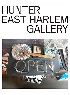 Hunter East Harlem Gallery art exhibition, What is Here is Open, Trash Collection, Coronado printstudio artwork, Hi-ARTS, art collaboration, East Harlem art