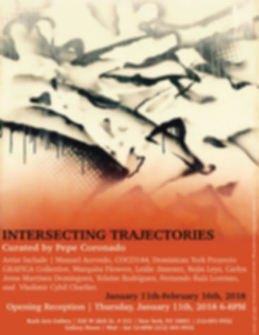 Intersecting Trajectories art exhibition at Rush Gallery, featuring Coronado printstudio artworks, from East Harlem, Chelsea gallery