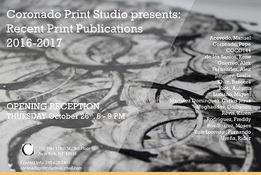 recent publications, Coronado printstudio, art show, exhibition, artist collective in East Harlem