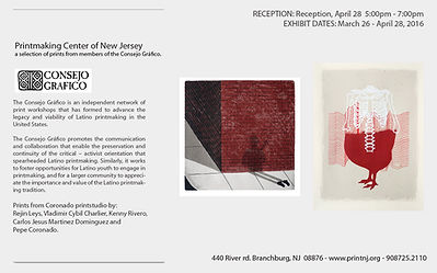 Consejo Grafico Nacional exhibition flyer. Shown at the Printmaking Center of New Jersey