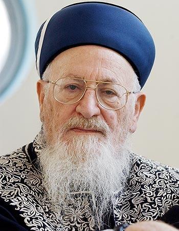 הרב מרדכי אליהו, צילום:ראובן שוורץ