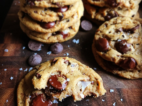 Egg-Free Brown Butter Sea Salt Chocolate Chip Cookies