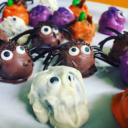 #Monster #truffle parade! #mummies, #spiders, #pumpkins, #oneeyedmonsters, and #bats! Turns out the