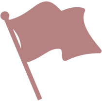 rose colored flag icon