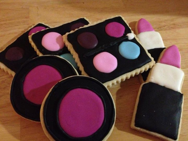 Birthday cookies for Kate Bovitch!  Femme makeup cookies!